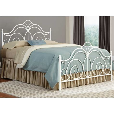 iron bed headboards curved white twin metal bed frame with short base combined
