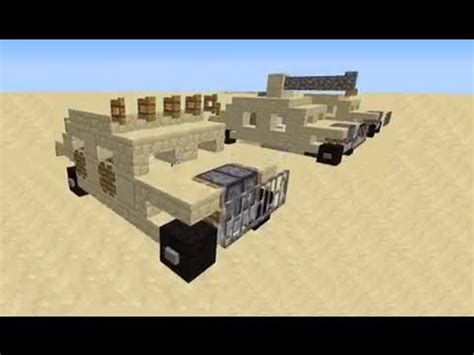 minecraft army jeep how to make a minecraft humvee hmmwv army vehicle youtube