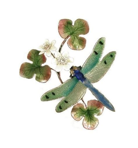bovano enamel wall home decor green dragonfly new