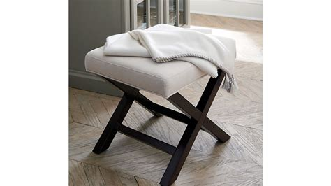 X Base Bench Stool by X Base Bench Vanity Stool Napa Crate And Barrel