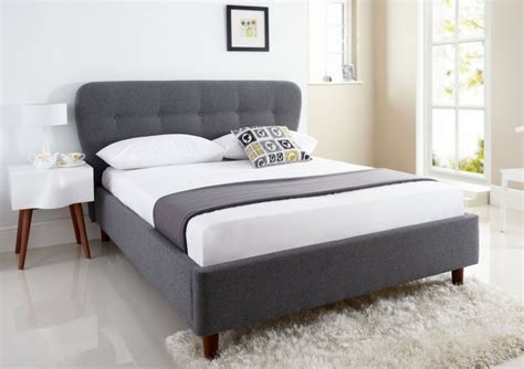 King Size Bed Frame With Headboard Oslo Upholstered Bed Frame King Size Beds Bed Sizes