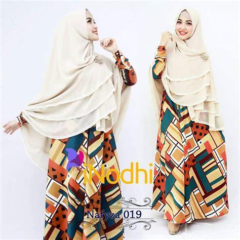 Zahra Khimar Pet Ukuran L nafyza 019 baju muslim gamis modern