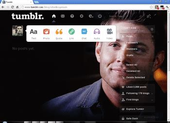 tumblr themes and skins theme dashboard dean winchester jensen ackles 01