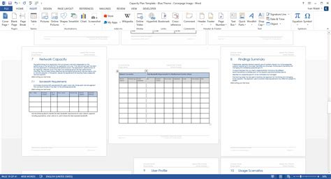 capacity plan template download microsoft word and excel