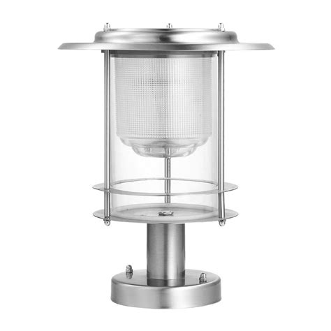 Shop Btr 0 36 Watt Brushed Stainless Steel Low Voltage Stainless Steel Solar Post Light