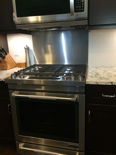stainless steel backsplash for stove early review new jenn air slide in gas range