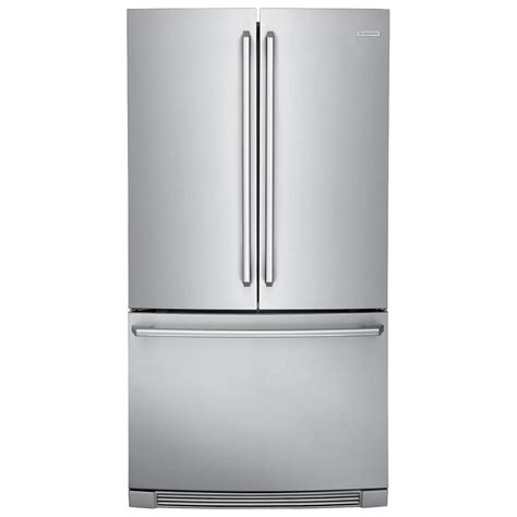 cabinet depth french door refrigerator ei23bc82ss electrolux iq touch 22 french door counter