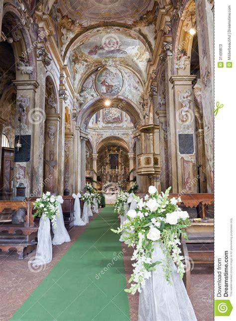 Hochzeitsdekoration Kirche by Hochzeitsdekoration In Einer Kirche Stockfotos Bild