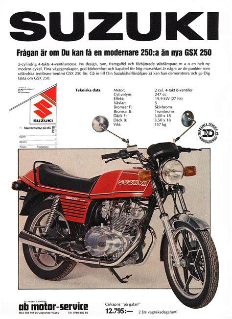Suzuki Advert Suzuki Gsx250e Magazine Adverts