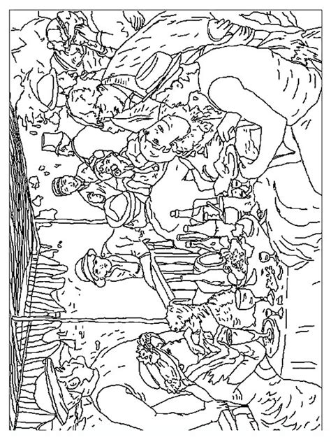 free coloring pages of famous art