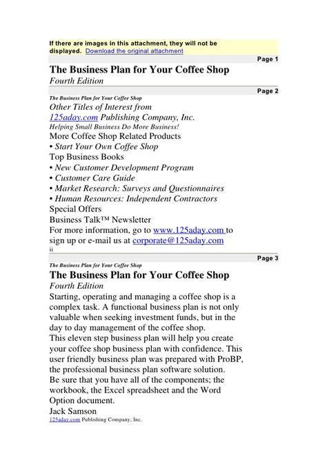 sle business plan of coffee shop pro bp coffee shop business plan doc