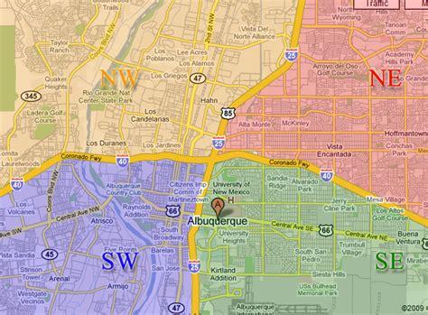 washington dc map nw ne sw se four quadrants of albuquerque abq style homes
