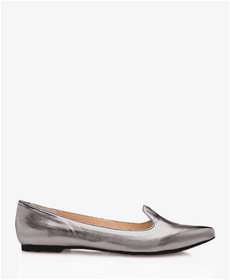 silver loafers metallic forever 21 metallic faux leather loafers in silver pewter