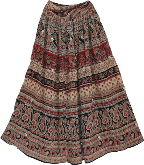 Batik Ethnic Skirt ethnic indian skirt with batik printing this womens skirt has a lot of color and