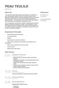 Sample Resume Maintenance Technician Maintenance Technician Resume Samples Visualcv Resume