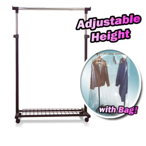 Rolling Rack Covers by New Rolling Clothing Garment Rack With Garment Rack