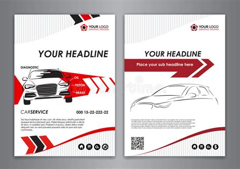 card catalog template a5 a4 set service car business card templates car repair