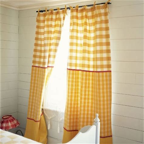 yellow and red curtains 165 best gingham checks images on pinterest