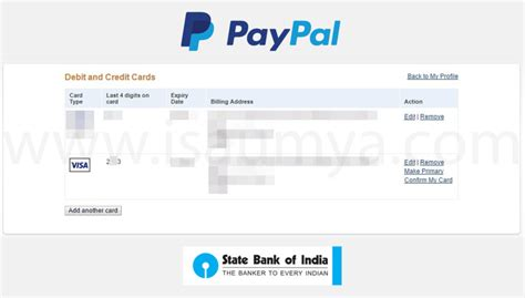 Visa Gift Card To Paypal Account - how to create paypal account with sbi debit card infocard co