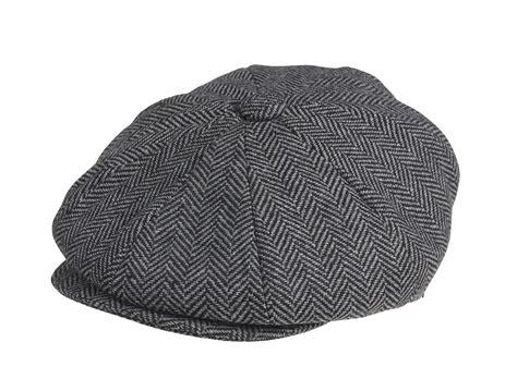 Herringbone Newsboy Cap peaky blinders 100 wool grey herringbone newsboy cap