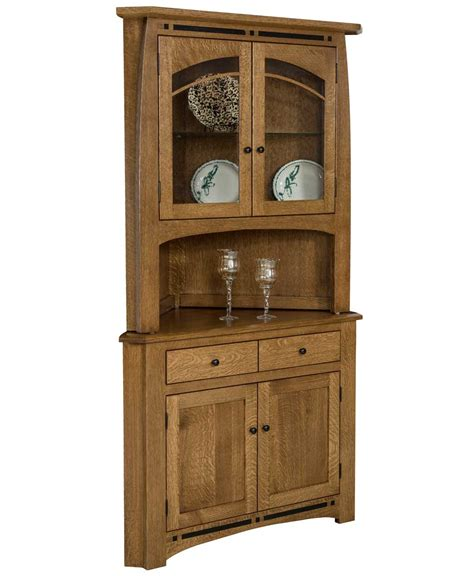 Hutches For Dining Room boulder creek corner hutch amish direct furniture