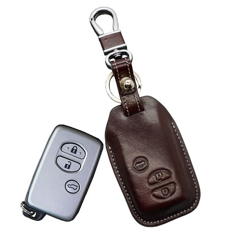 Open Toyota Key Fob Leather Key Fob Cover Holder For Toyota Highlander Crown
