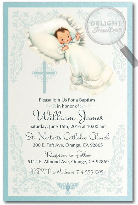 customized invitation card for christening 17 best images about baptism invitations on pinterest