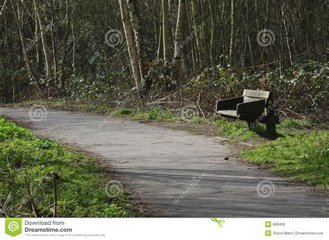 bos bank bank in bos stock foto afbeelding bestaande uit blad