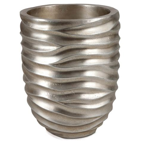 5 Inch Planter 10 Inch Brushed Silver Planter 6 5 Inch Opening D