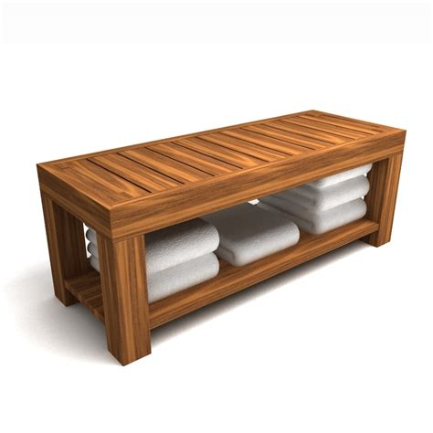bench 3d model wood bench 3d max