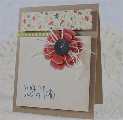 Handmade Greeting Cards Etsy - handmade greeting card just a note by endlessinkhandmade