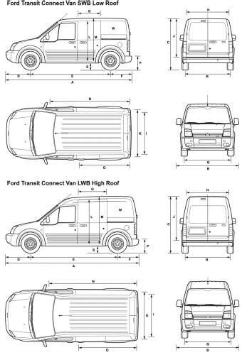 layout xl connectivity ford transit connect interior dimensions google search