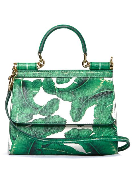 Dolce And Gabbana White Open Leather Bag by Lyst Dolce Gabbana Sicily Mini Banana Leaf Print Cross