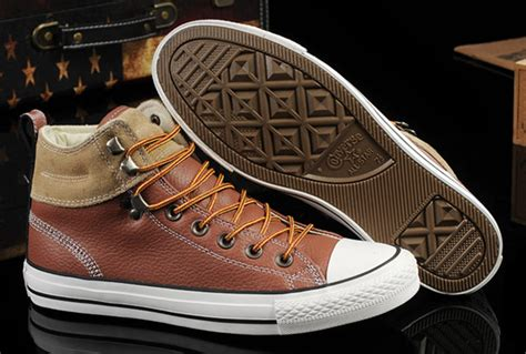 Converse High Black Brown converse brown leather high tops peninsula conflict