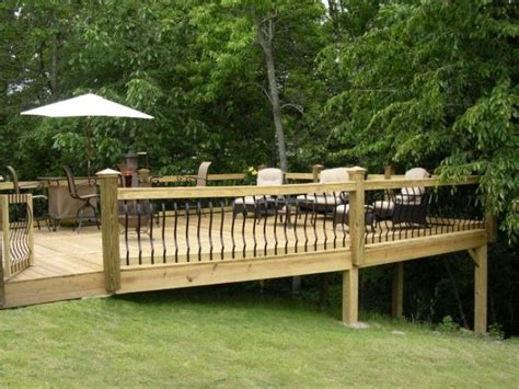 building a deck on a sloped backyard triyae com deck ideas for a sloped yard various design