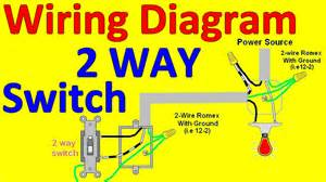 how to wire a two way light switch 2 way light switch wiring diagrams