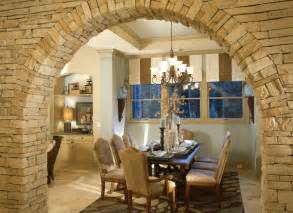 Beautiful stone arch leading into dining room.   Hello Design Center   Pinterest   Beautiful