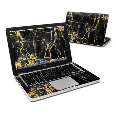 Macbook Pro 13 Marble Black Gold macbook pro 13in skin black gold marble by marble