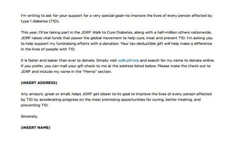 fundraising letter templates  sample  format   premium templates