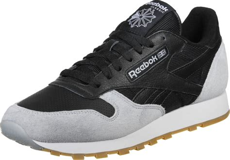 reebok classic leather spp shoes black grey