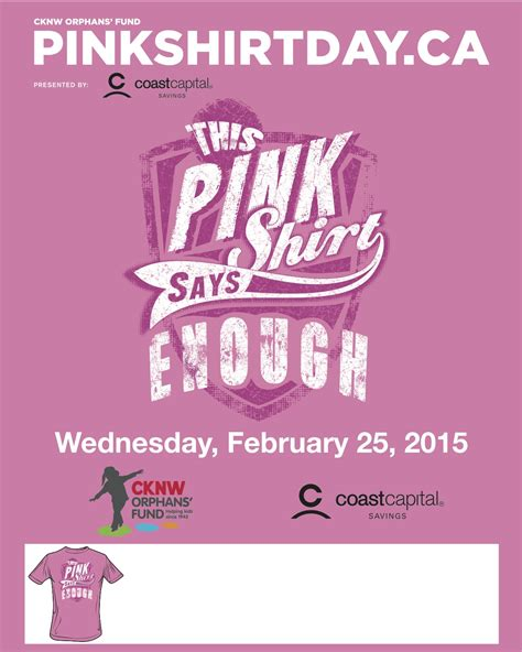 Pink Shirt Day Ufv Events