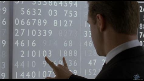 mind for numbers how encrypted enemy telecommunication matrix panel display movie prop from a beautiful mind 2001