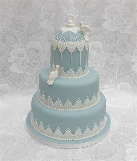 wedding cakes with bird cage wedding cake with made doves a wedgewood