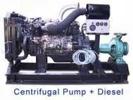 Pompa Teral Pompa Centrifugal Dengan Penggerak Mesin Diesel