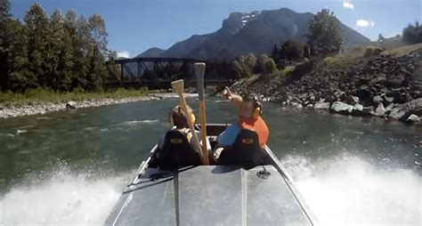 mini jet boat videos take an awesome river ride on a homemade mini jet boat video