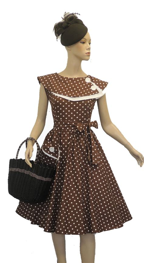 swing tea dress new rosa rosa vtg 1950s retro polka dot rockabilly party
