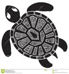 decorative graphic turtle tribal totem animal illustra