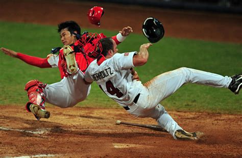 vote should mlb ban home plate collisions five wide sports