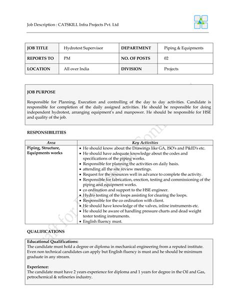 Piping Field Engineer Cover Letter by Inspirational Piping Field Engineer Cover Letter Resume Daily