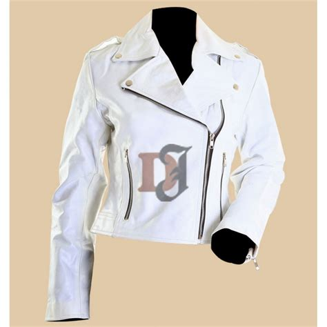 white motorbike jacket buy womens white leather motorcycle jacket